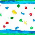«Schöne Farben machen bunt, Gott macht das Leben bunter», Dimitri, 4. Kl.
