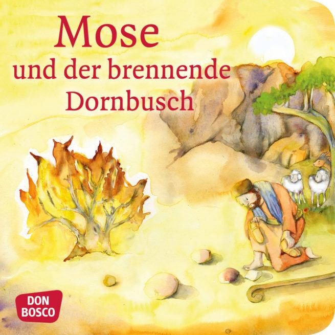 Mini-Bilderbuch «Mose und der brennende Dornbusch»