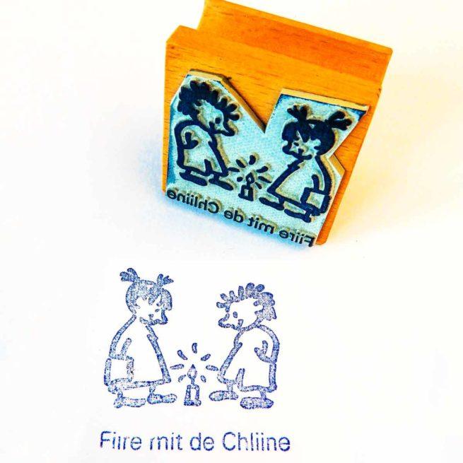 Stempel «Fiire mit de Chliine»