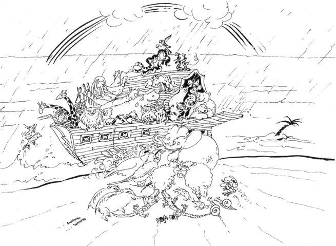 Noah-Bild aus dem Kolibri-Liederbuch