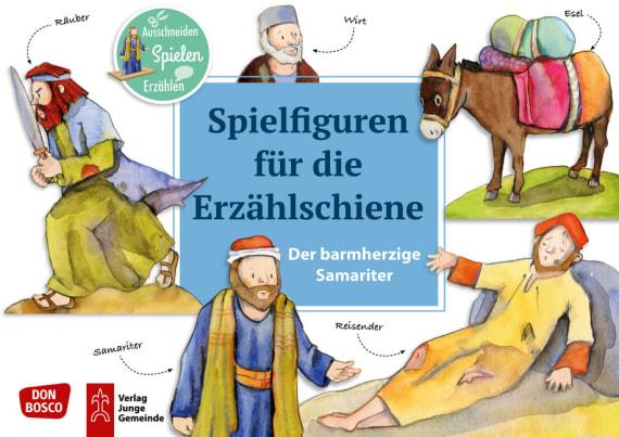 Der barmherzige Samariter – Spielfiguren für die Erzählschiene