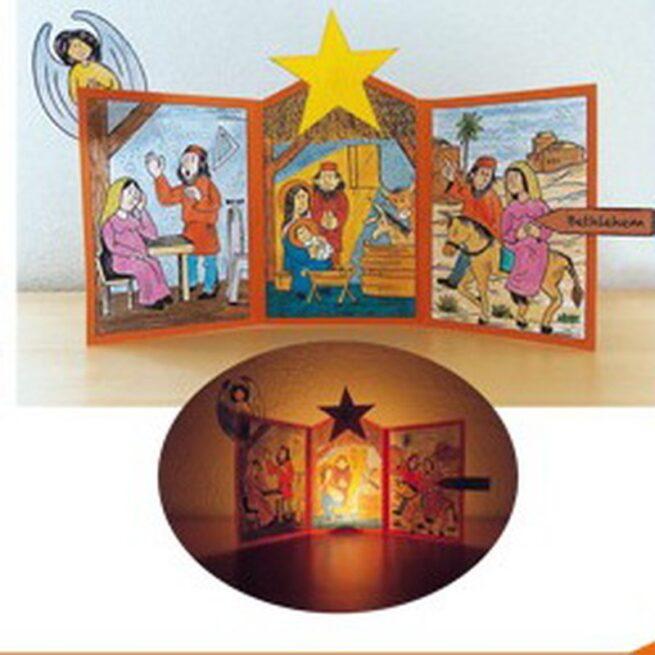 Bastelbogen «Weihnachtstransparent»