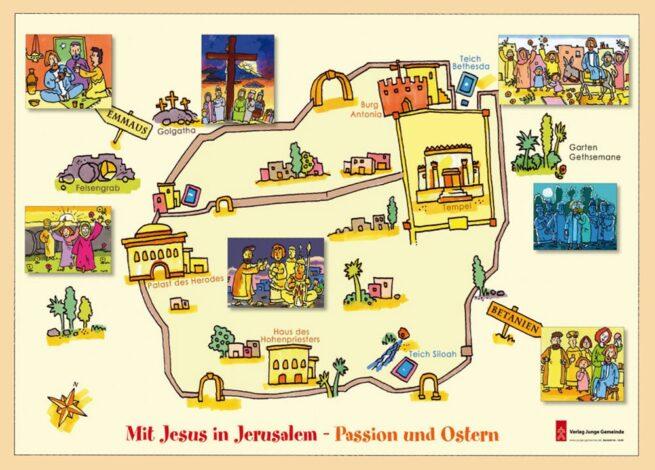 Bastelbogen «Mit Jesus in Jerusalem»