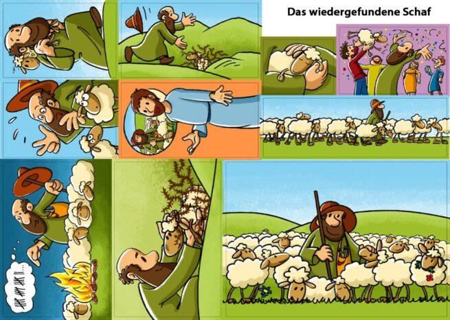 Figurenset «Das wiedergefundene Schaf»