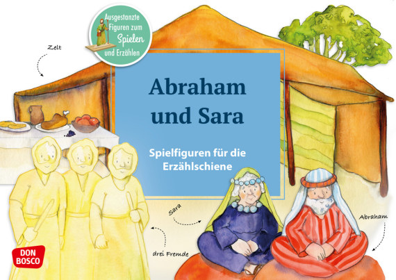 Abraham und Sara – Spielfiguren für die Erzählschiene